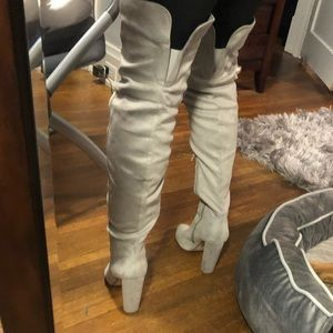 my delicious shoes Shoes - Thigh high grey boots!!!